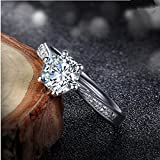 kittipong New Unique AAA CZ Wedding Band 925 Silver Women's Engagement Party Ring Size 4-9 (5.5)