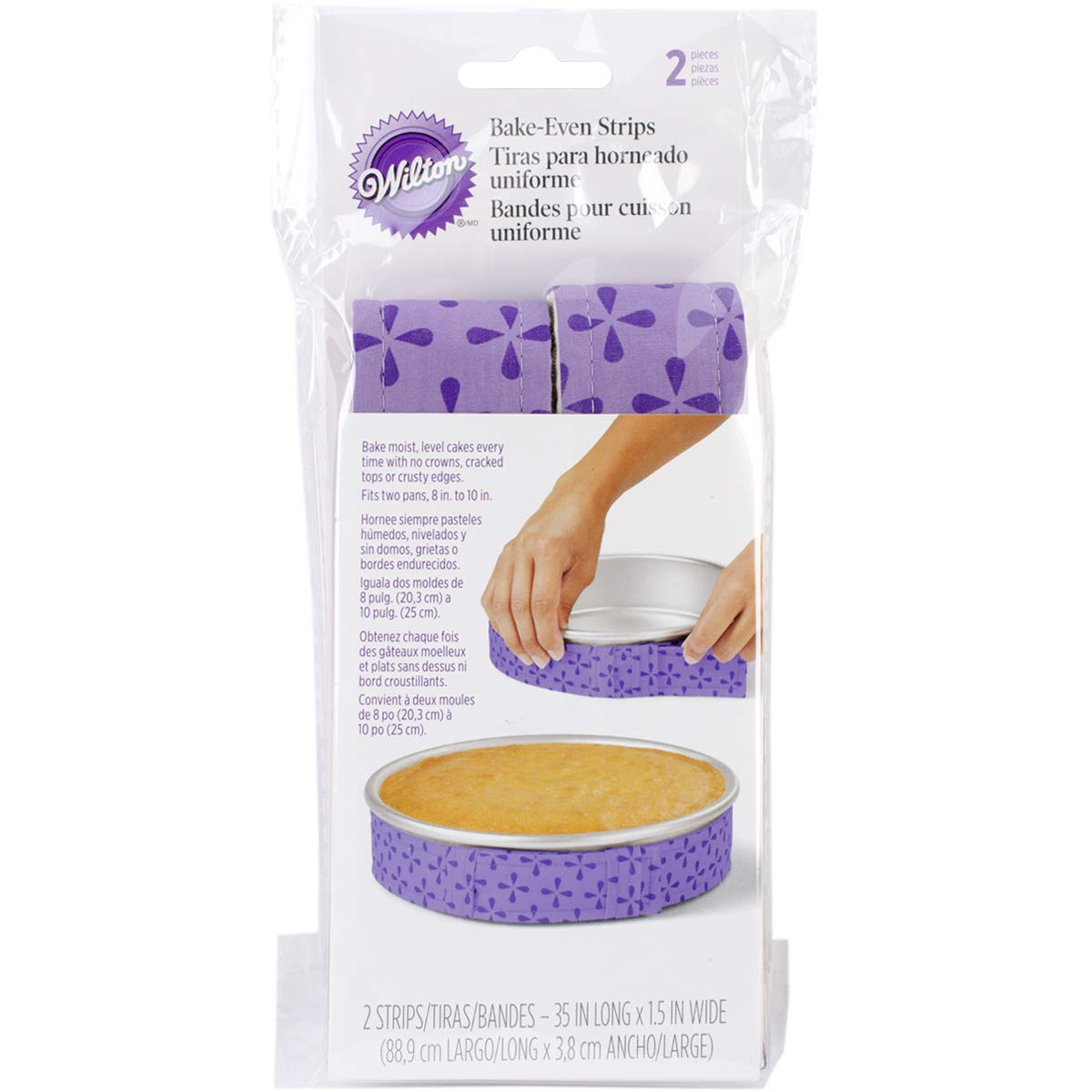 Wilton Bake Even Cake Strips, 2-Piece