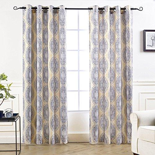 yellow gray window curtains - 4