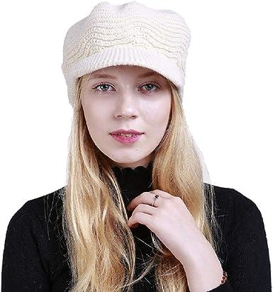 QS_Go Mujer Boina Gorro Invierno Sombreros de Moda Gorras para ...