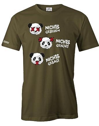Nichts Gesehen Nichts Gehört Nichts Gesagt Herren T Shirt In