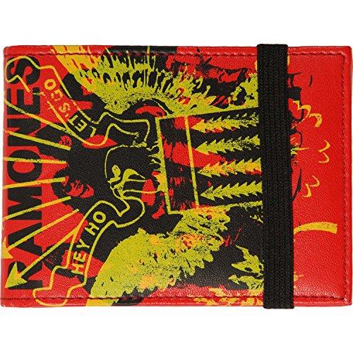 Ramones Men's Hey Ho Bi-Fold Wallet Red - Ramones Wallet