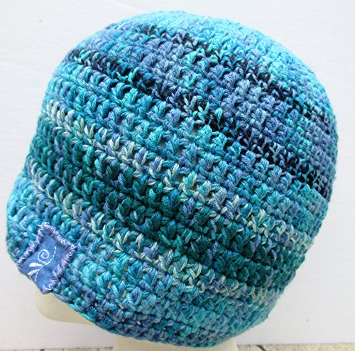 ades of Blue Bamboo and Pima Cotton Crochet Beanie (Pima Bamboo)