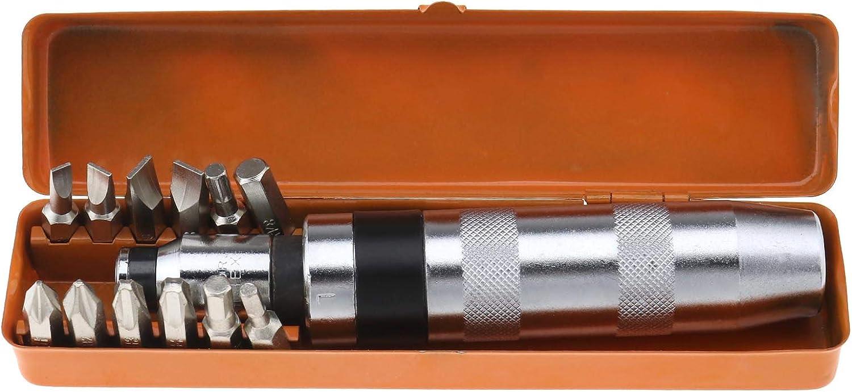 Juego de 13 destornilladores de impacto con caja de almacenamiento de metal 13 unidades con ranuras hexagonales hexagonal con adaptador hexagonal de 8 mm