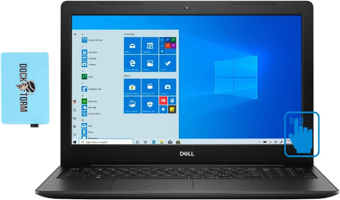 "Dell Inspiron 15 3593 Home and Business Laptop (Intel i7-1065G7 8-Core, 32GB RAM, 2TB m.2 SATA SSD, Intel Iris Plus, 15.6"" Touch HD (1366x768), WiFi, Bluetooth, Webcam, Win 10 Home) with Hub"
