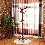European solid wood coat rack wood floor rack antique white Hotel hanger clothes rack hanger coat rack,K