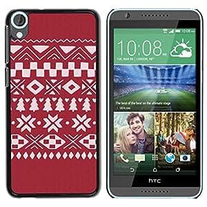 Be Good Phone Accessory // Dura Cáscara cubierta Protectora Caso Carcasa Funda de Protección para HTC Desire 820 // Sweater Pattern Winter Christmas