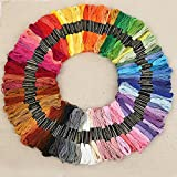 100 x Mix Colors Cross Stitch Cotton Sewing Skeins Embroidery Thread Floss Kit