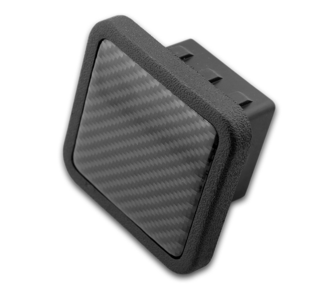eVerHITCH Trailer Hitch Cover Plug Insert (Fits 2'' Receivers, Carbon Fiber) by eVerHITCH