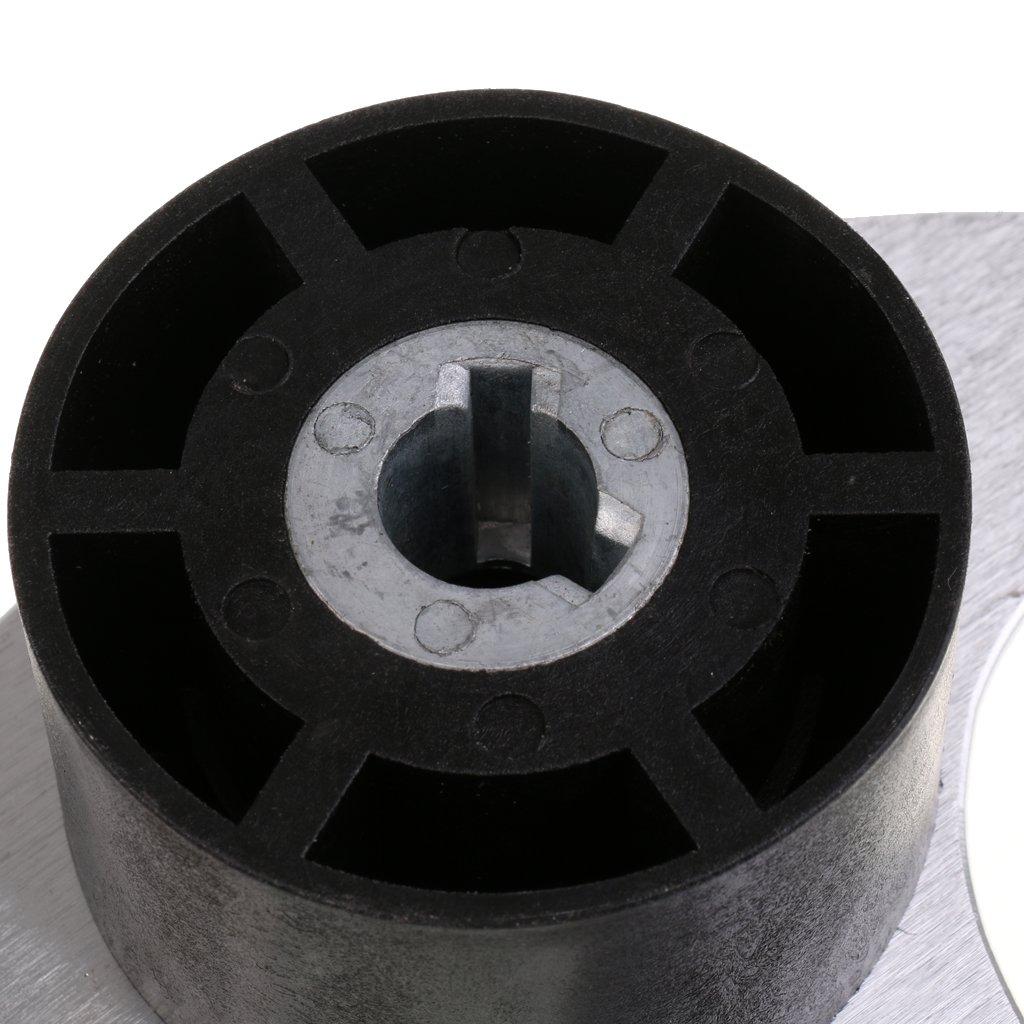 MagiDeal Aleaci/ón de Aluminio 340mm con 3 Radios Volante N/áutico 3//4con Tapa Central