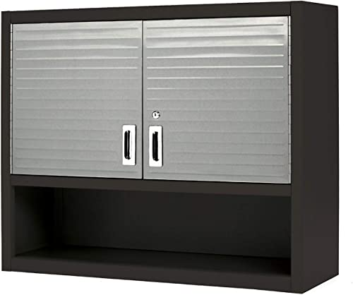 Seville Classics – Ultra-HD Wall Cabinet with Open Shelf, Graphite