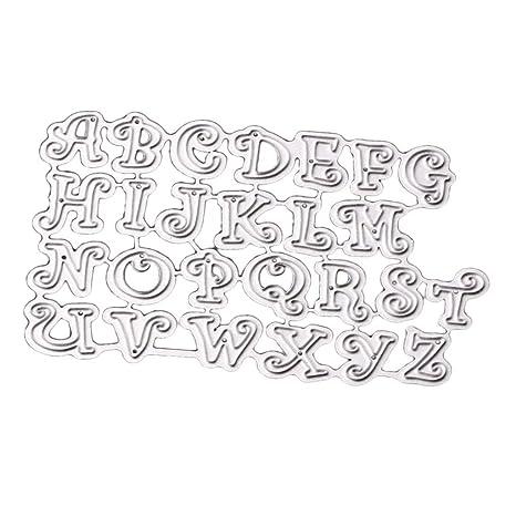 B Baosity A-Z Alfabeto Accesorios Troqueles De Corte De Metal Plantilla Scrapbook Paper Craft
