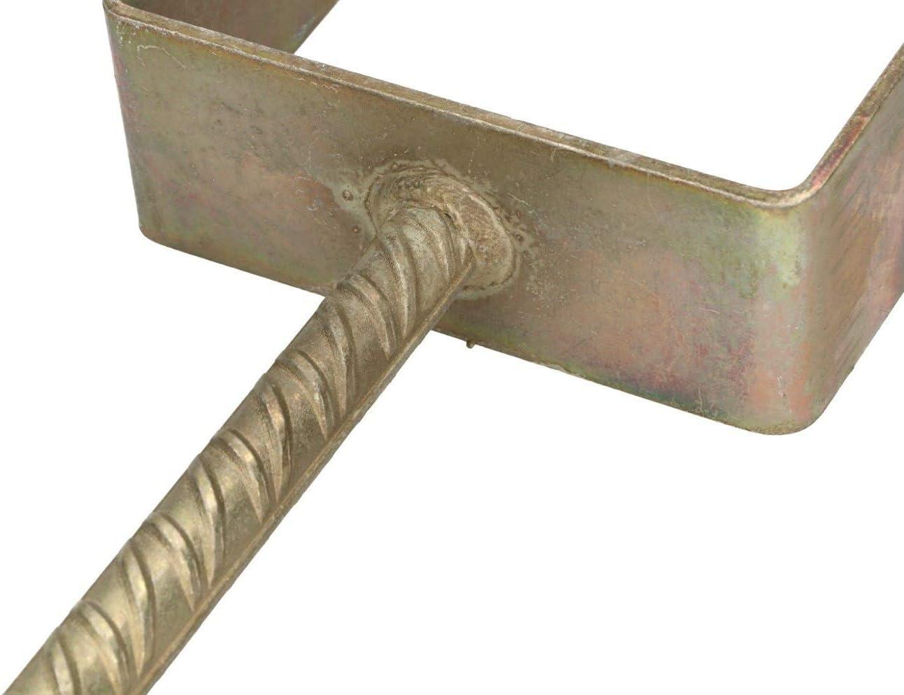 KOTARBAU/® U 161 mm Riffelstahl Mit Betonanker Feuerverzinkt Steindolle Fest Bodenh/ülse Anker Stahl Pfostentr/äger 151 mm Alle Gr/ö/ßen Lichte Breite 51 mm