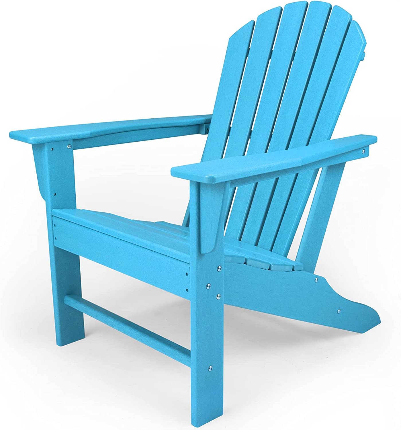 HDPE Adirondack Chair, Patio Outdoor Chairs, Plastic Resin Deck Chair, Painted Weather Resistant, for Deck, Garden, Backyard & Lawn Furniture, Fire Pit, Porch Seating by DAILYLIFE (Aquamarine)