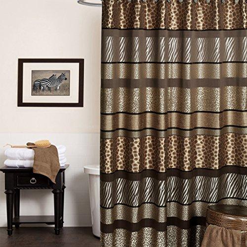 Popular Bath Safari Stripes 70 x 72 Fabric Bathroom Shower Curtain