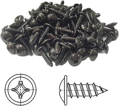4,2 x 32 mm 10 pi/èces Vis /à T/ôle TORX t/ête bomb/ée plate avec rondelle galvanis/é noir