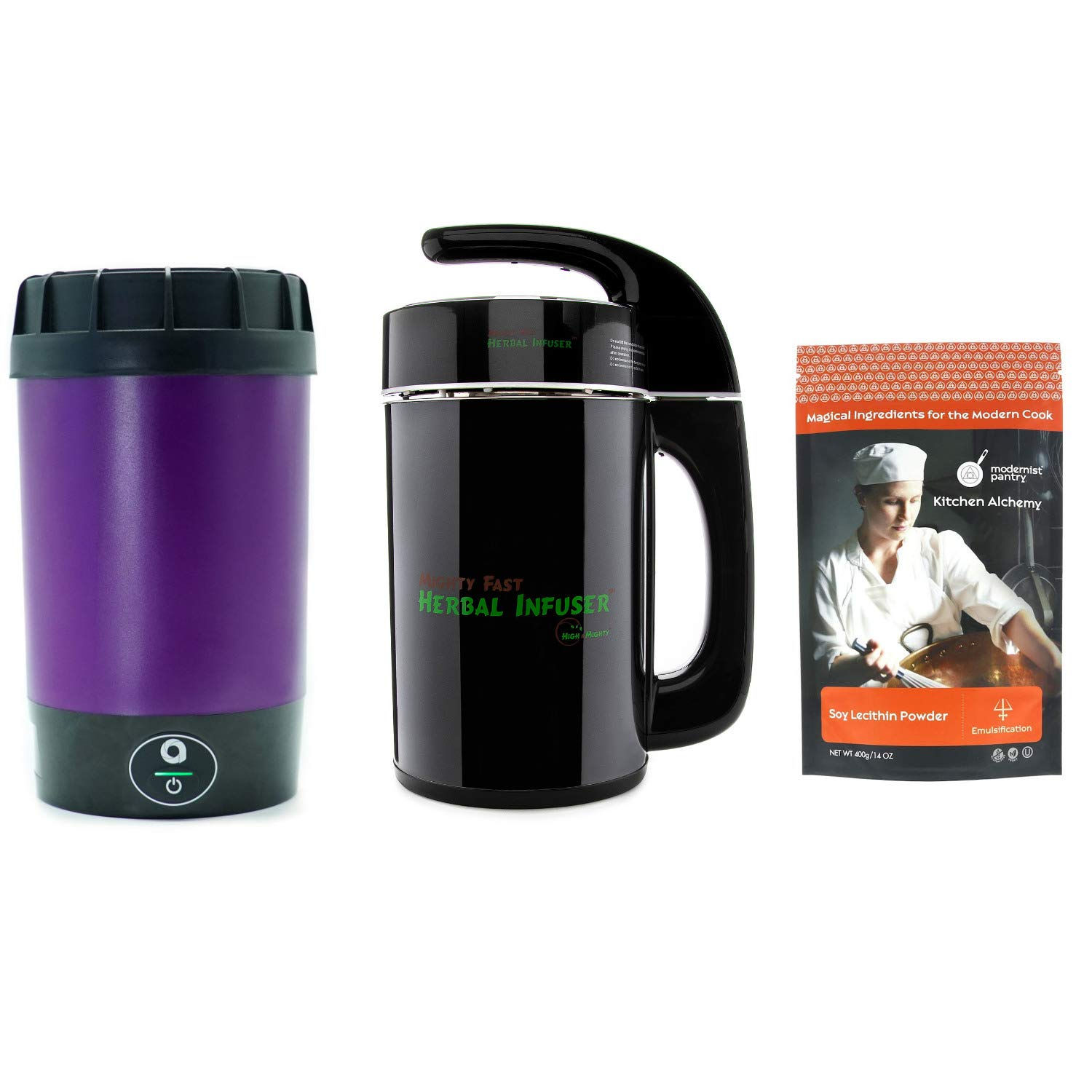 Ardent Nova & Mighty Fast Herbal Infuser with Modernist Pantry Food Grade Soy Lecithin Powder - Super Infuser Bundle