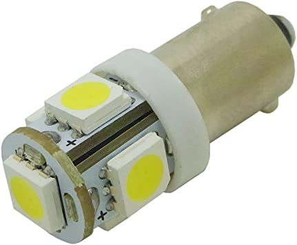 White WeiXuan 4 PCS BA9S T4W 64111 64113 BA9 LED Car Interior Bulbs Map Reading Parking Light