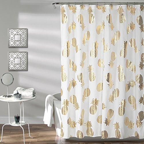 Lush Decor Pineapple Toss Shower Curtain, 72