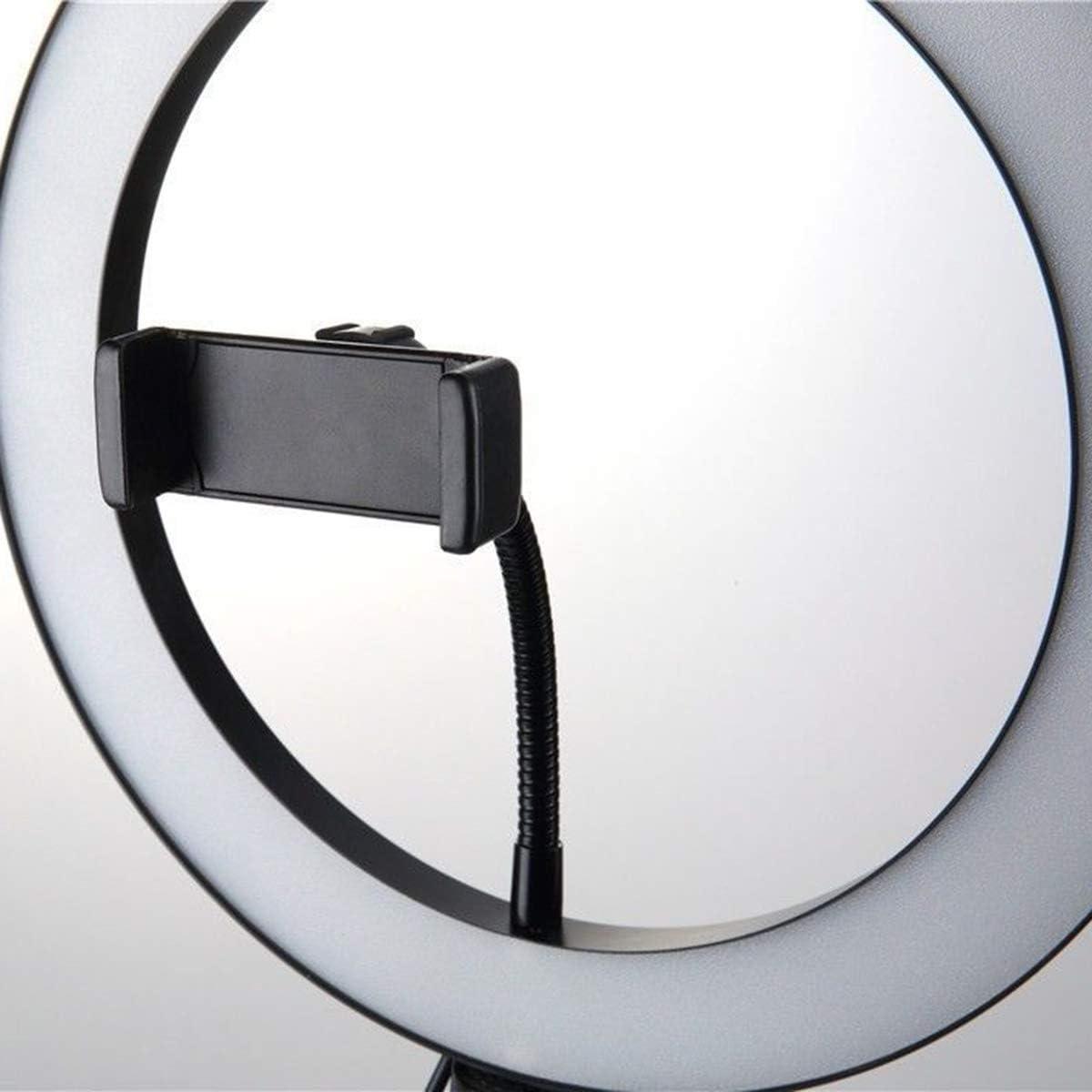 Fealay 26cm Studio Live Led Ring Light with Phone Holder 120cm Ring Light Kit Foldable Tripod Kit Adjustable 360 Rotation for Phone Selfie Light Beauty Photograph