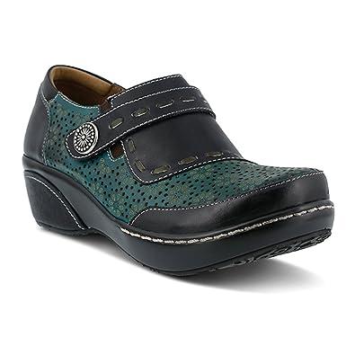 L'Artiste by Spring Step Women's Rokas Slip-on Loafer, Black/Multi