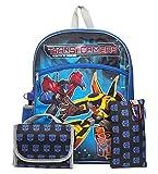 Transformers School Backpack BookBag Lunch Box Pencil Case Water Bottle Set 5 Piece