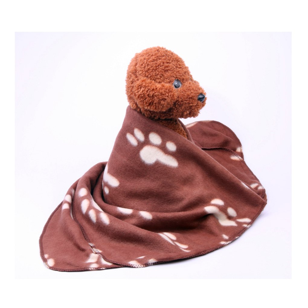 Pet Puppy Dog Blanket for Small Medium Large Dogs, 4 Pack - Red Blue Black Brown, Warm Soft Cozy Cat Dog Blankets and Throws Winter Pet Sleep Mat Pad Bed Cover with Paw Print (L - 32.3'' x 43.3'') by Joe's Home (Image #7)