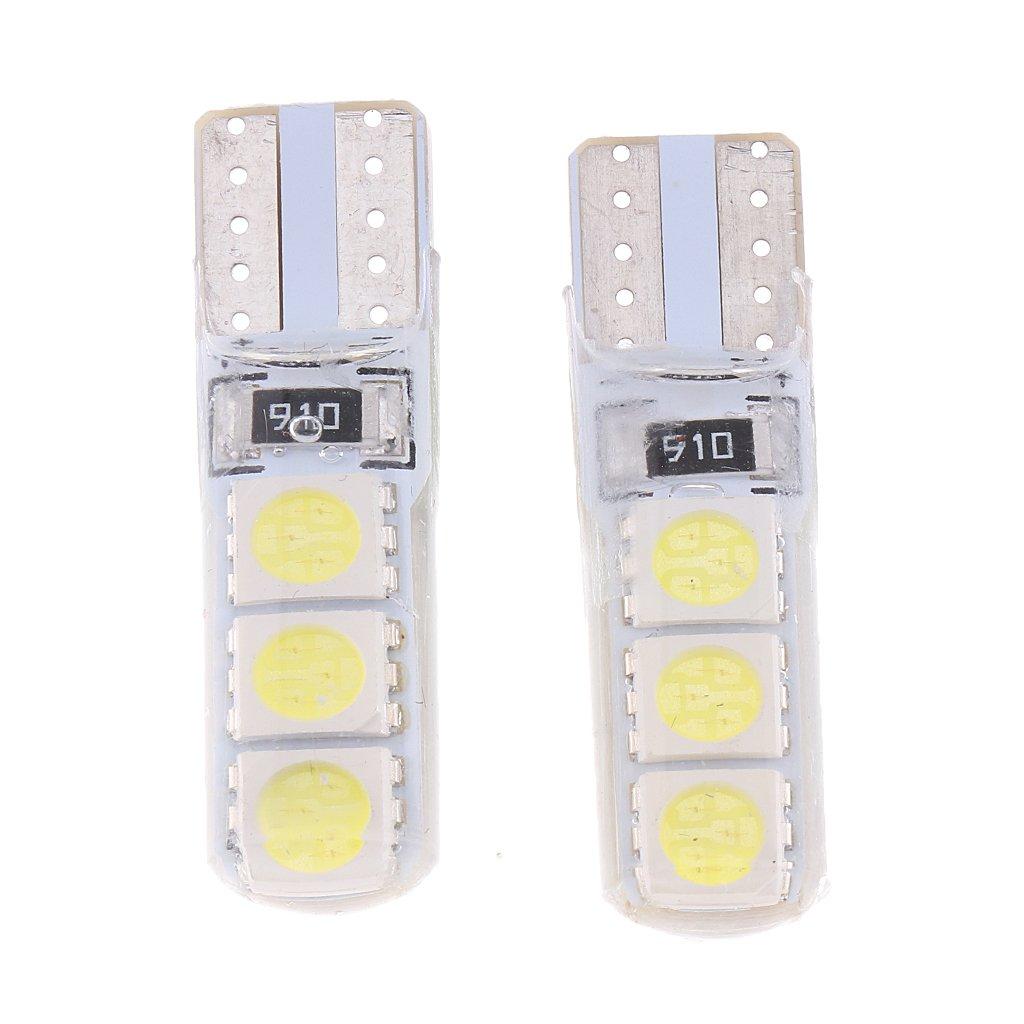 Sharplace 2 Pcs T10 5050 6 LED Lampadina Luce Interno Cruscotto Indicatore Console Auto - Bianca