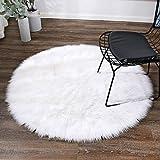LEEVAN Super Soft Faux Fur Sheepskin Rug Office