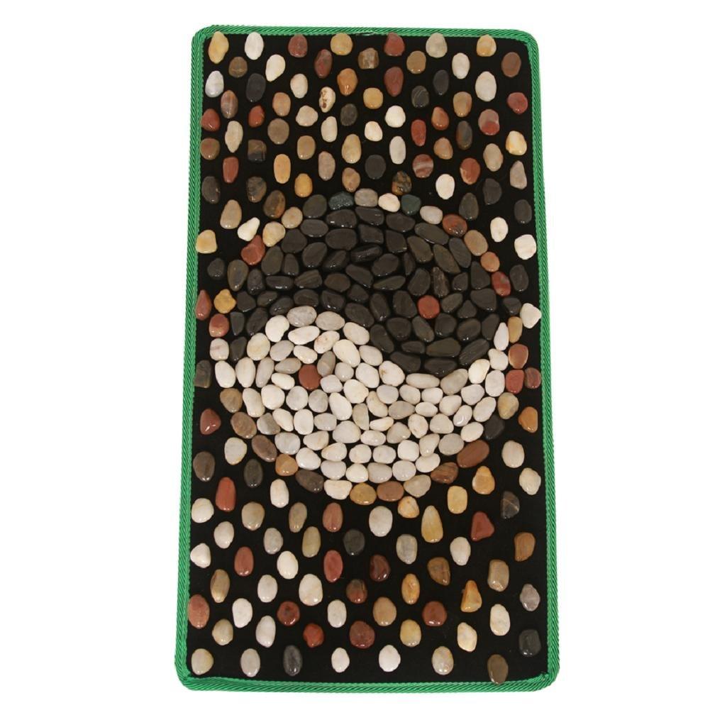 WE&ZHE Natural Stone Pebble Foot Massage Pad Foot Massage Foot Pad Gravel Blanket Pressure Plate (40/75M)