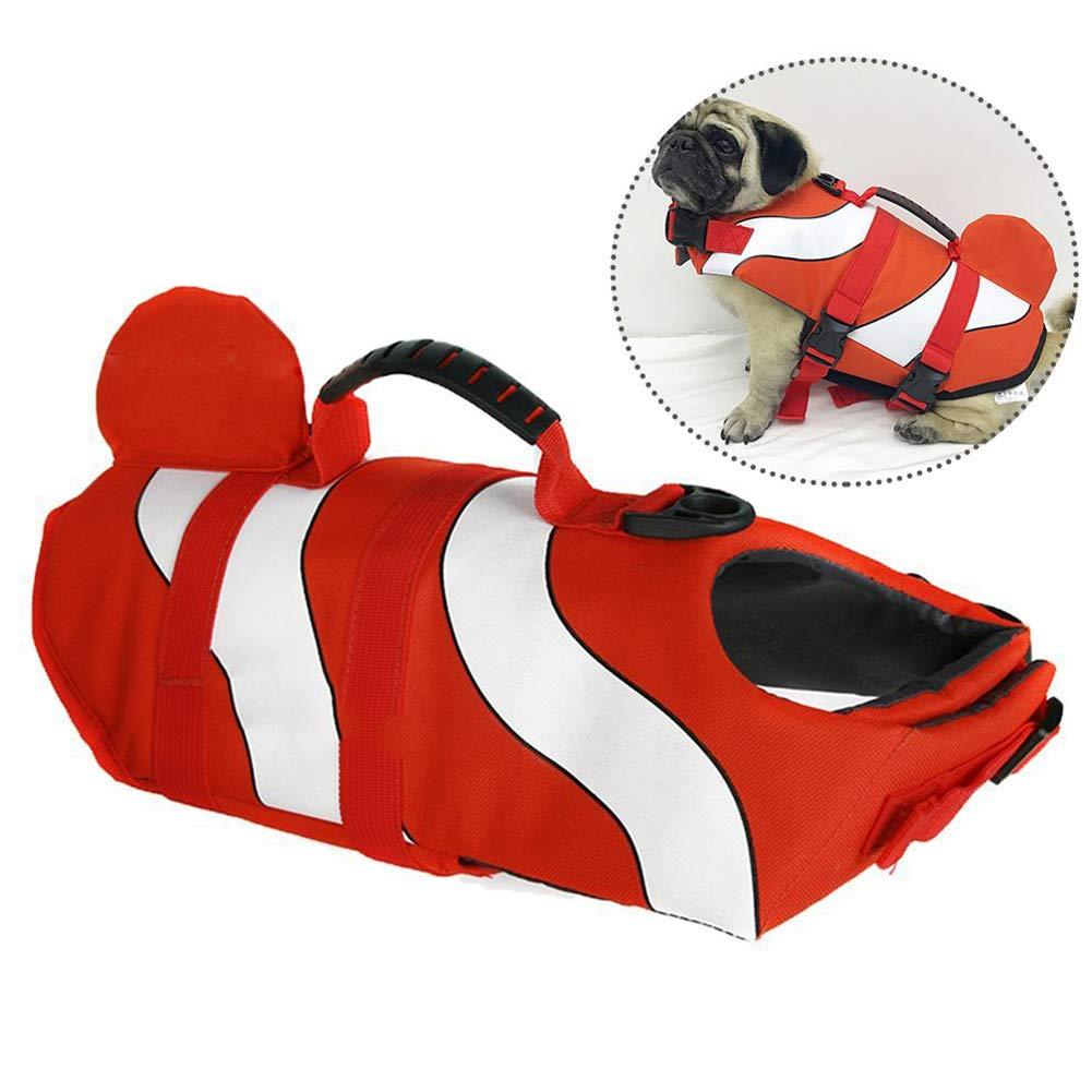 WLDOCA Lifejacket for Dog,Dog Flotation Vest with Handle,S
