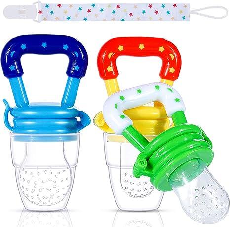 Faburo 3 Piezas Chupete Fruta,Baby Feeder Pacifiers de 3 Tamaños Diferentes con uno Clip para Chupete: Amazon.es: Bebé