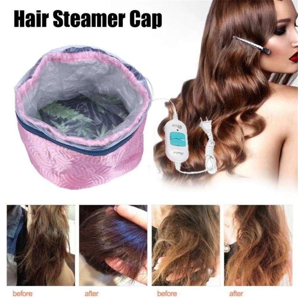 Detachable Overheat Protection Electric 220V Hair Steamer Cap Mask Heating Cap Hair Caring Tool outopen