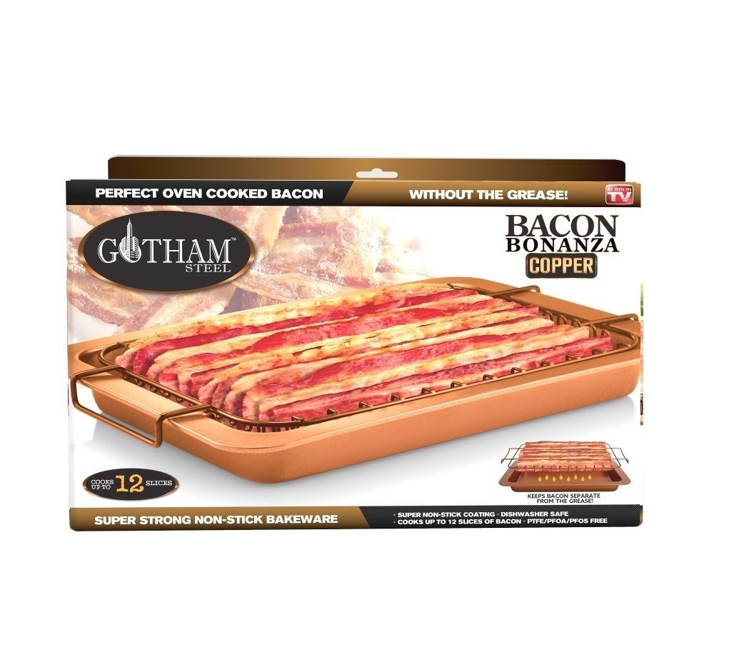 Bacon Bonanza by Gotham Steel Nonstick Oven Cooker As Seen On TV 2-Pack