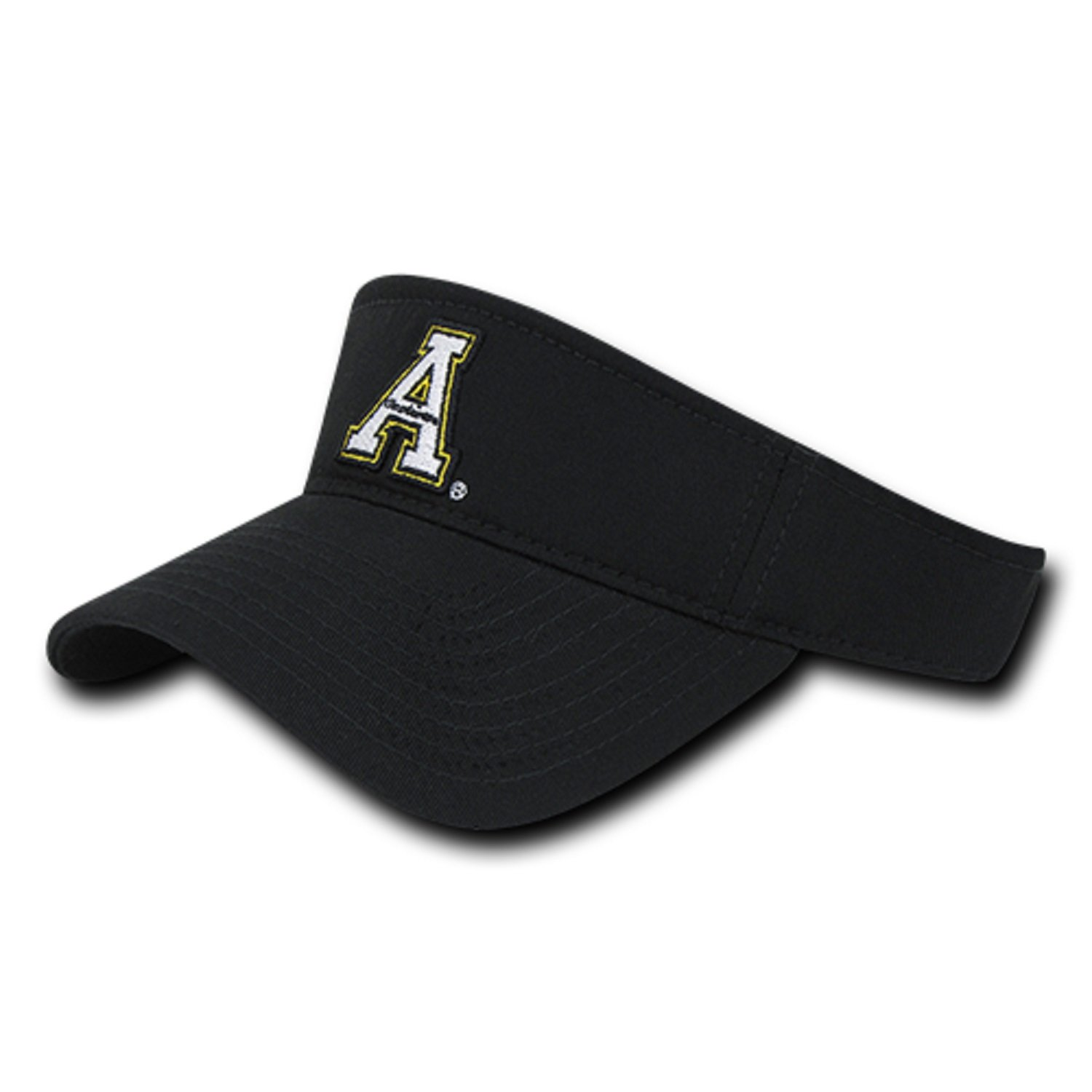 c44e4fceb12d3 BHFC ASU Appalachian App State University Mountaineers Cotton Polo Sun Golf  Tennis Visor Cap Hat at Amazon Men s Clothing store