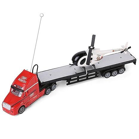 Amazon Com Red Semi Truck Trailer 20 Hauler Remote Control Rc