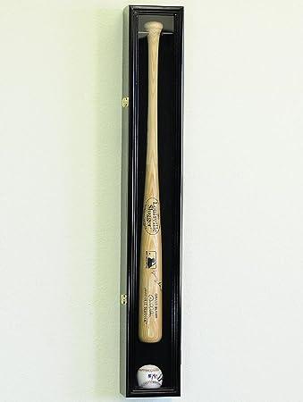 1 Baseball Bat Display Case Rack Cabinet Holder W/ UV Protection Lockable  Veritical U0026 Horizontal