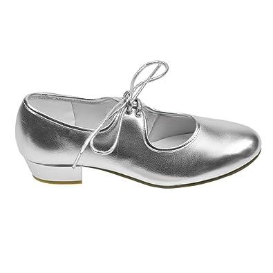 Starlite Weiß Patter PU Tap Schuhe 4.5 L abttBiGyp