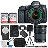 Canon EOS 6D Mark II DSLR Camera + EF 24-105mm f/3.5-5.6 is STM Lens + 32GB Memory Card + RC-6 Wireless Remote + DC59 Gadget Bag + Quality Tripod + USB Card Reader + Cleaning Kit – Complete Bundle For Sale