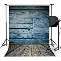 Kooer 5x7ft Ocean Blue Wood Wall Photography Backdrops Nautical Style Photography Backgrounds Photo Studio Prop Baby Children Family Photoshoot Backdrop Customized Various Size