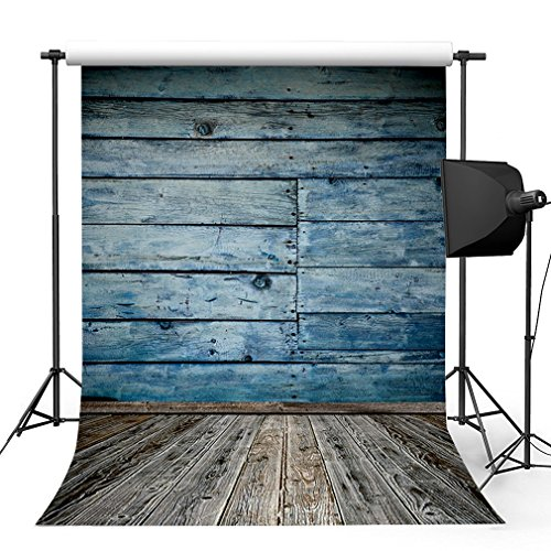 Kooer-5x7ft-Ocean-Blue-Wood-Wall-Photography-Backdrops-Nautical-Style-Photography-Backgrounds-Photo-Studio-Prop-Baby-Children-Family-Photoshoot-Backdrop-Customized-Various-Size