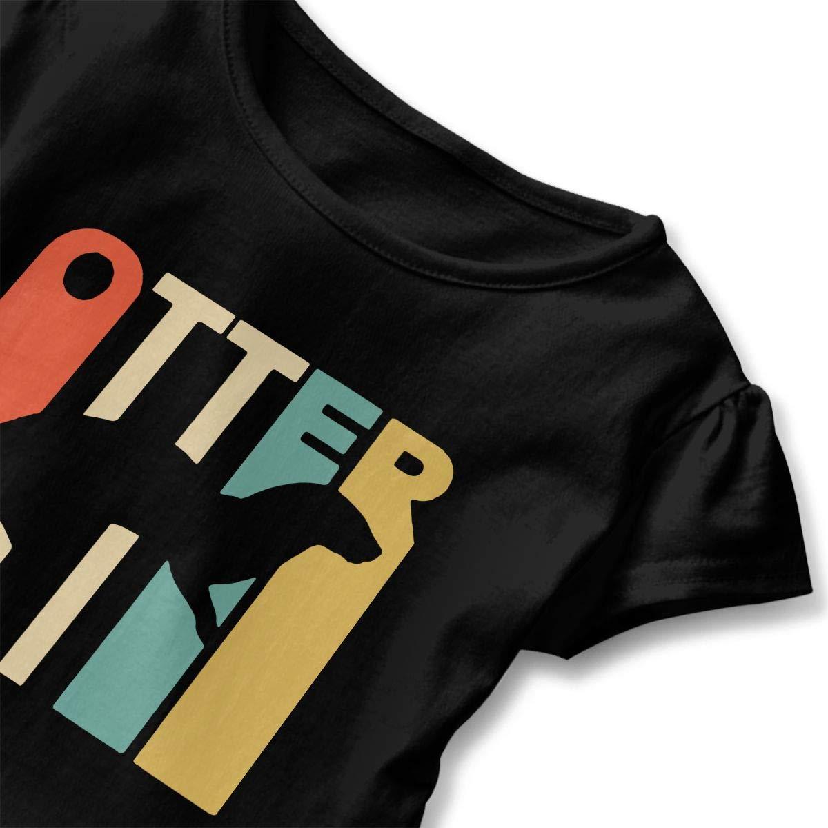 SHIRT1-KIDS Style Otter Toddler//Infant Girls Short Sleeve Ruffles Shirt Tee Jersey for 2-6 Toddlers