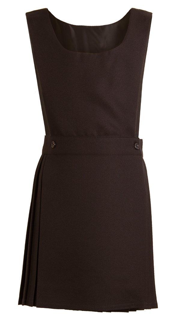 Girls School Bib Pinafore Dress Grey Black Navy Royal Blue Burgundy Bottle Green Age 2 3 4 5 6 7 8 9 10 11 12 13 14 15 16