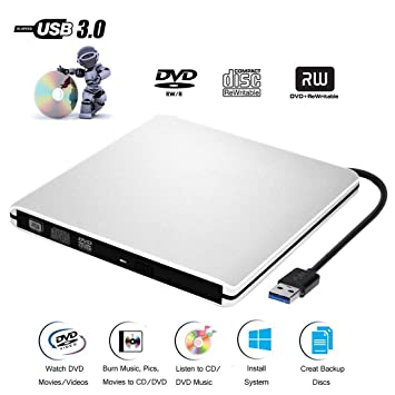 DVD CD Externo Jugador de Grabadora CD-ROM USB 3.0 CD/DVD-RW Uso de Portátil/Computadora/Macbool/ Mac OS / Vista y Windows XP / 10/8/7: Amazon.es: ...