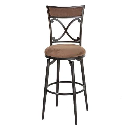 Stupendous Leggett Platt Montgomery Swivel Seat Bar Stool With Blackened Bronze Finished Metal Frame Detailed Seatback And Cocoa Microfiber Upholstery Dailytribune Chair Design For Home Dailytribuneorg