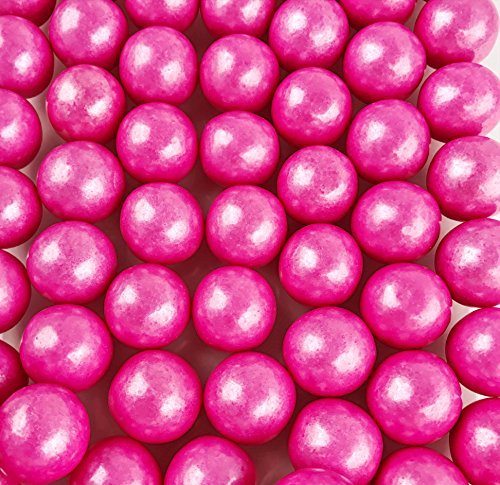Large 1 Shimmer Pink Gumballs - 2 Pound Bags - About 120 Gumballs Per Bag - Includes How to Build a Candy Buffet -