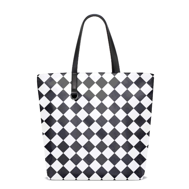 Women Tote Bag Notebook Shoulder Bag Lightweight Polyester Business Work Office Briefcase Cute Cat