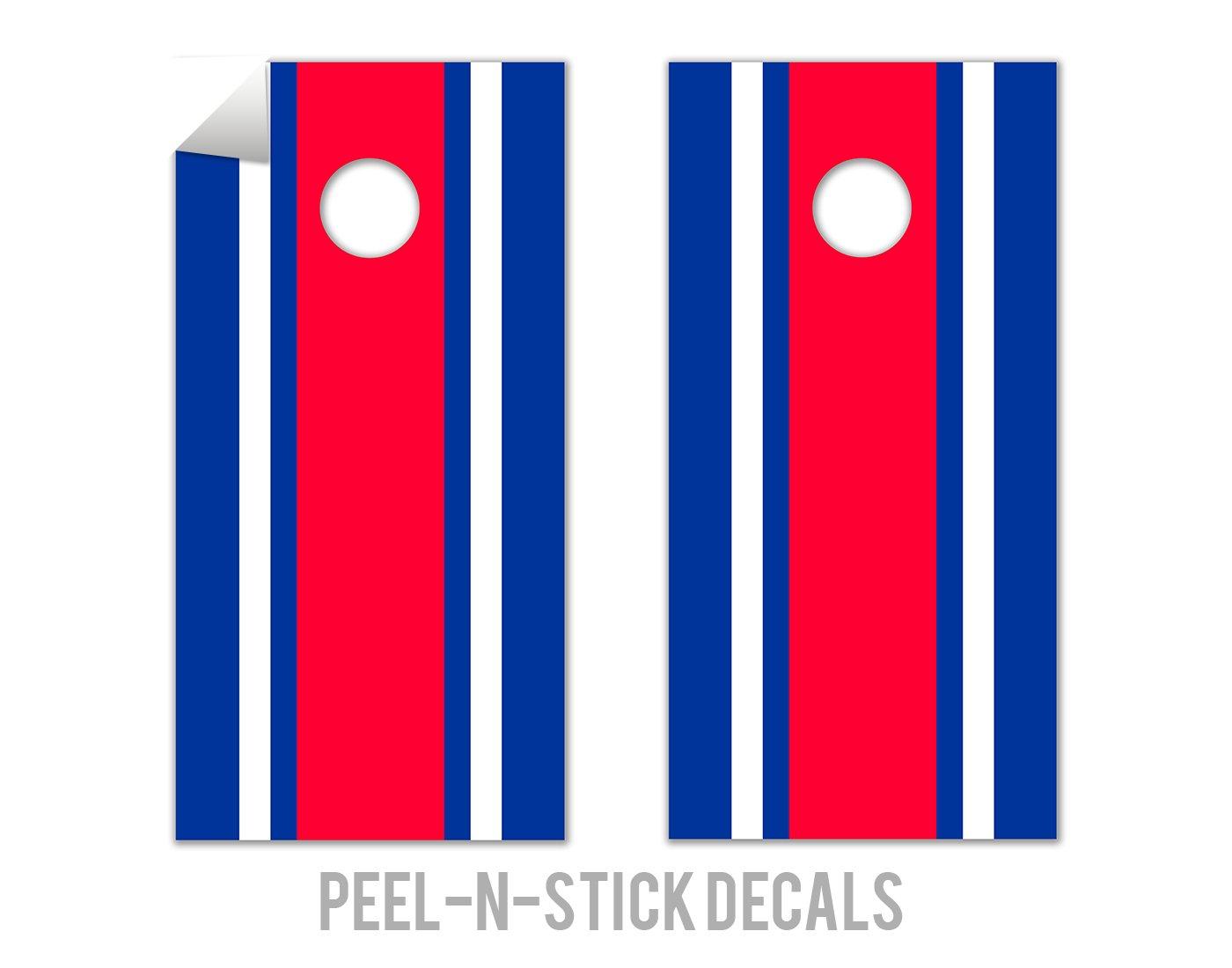 Classic Stripe - Red, White, Blue - Cornhole Crew - ACA Regulation Size Cornhole Board Decals