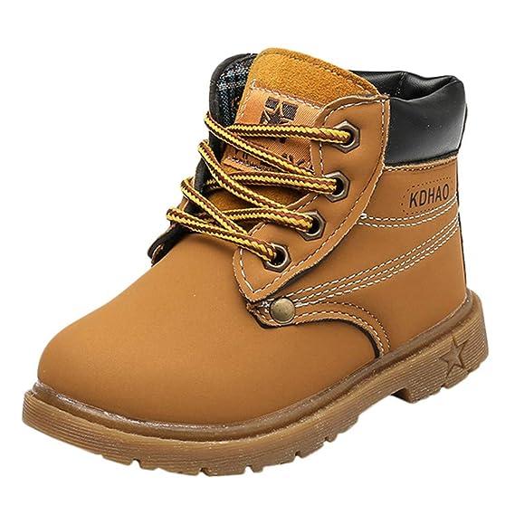 YanHoo Zapatos para niños El otoño y el Invierno de los niños de la Moda  clásica c7f0ff95dfff0