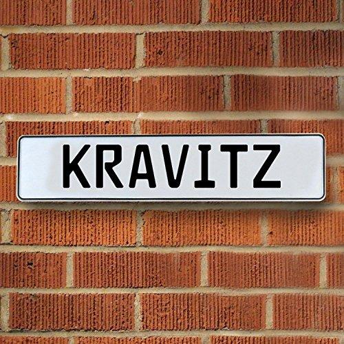 Vintage parts USA VPAY201B7 Kravitz White Stamped Aluminum Street Sign Mancave Wall Art
